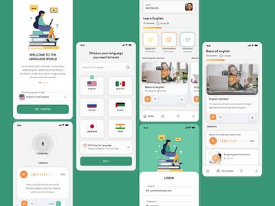 Language Learning App learning app language learning online concept app
