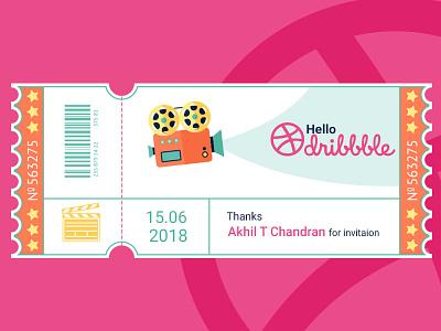Dribble hello dribbble dribbble first shot invitation