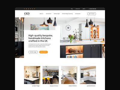 Kitchen Design Landing Page case landing page case study website web design web landing ux ui design