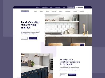 Bespoke Worktops Landing Page branding landing page case study website web design web landing ux ui design