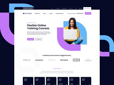 Online Training Case Study agency landing page case study website web design web landing ux ui design