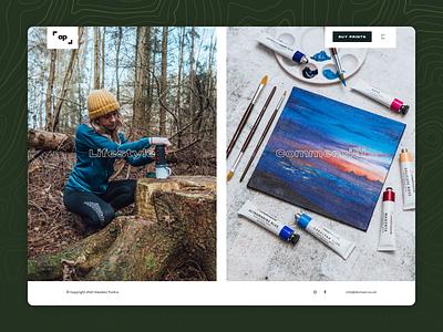 Photographer Website pangram typography imagery photography website web design web landing ux ui design