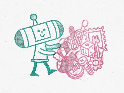 Katamari (1) illustrator fanart videogames switch namco nintendo kawaii cute design flat illustration