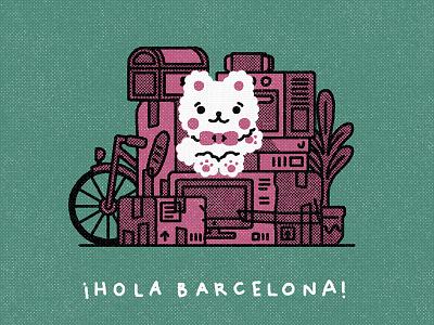 Hello Barcelona!! kawaii cute graphic flat illustrator design illustration