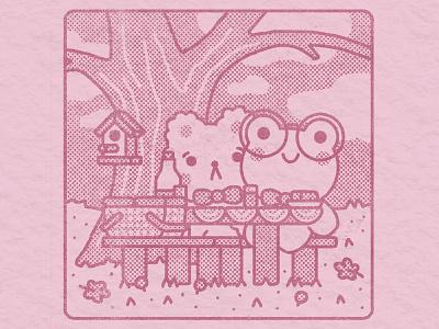 the last picnic of the year autumn fall kawaii cute graphic illustrator flat design illustration