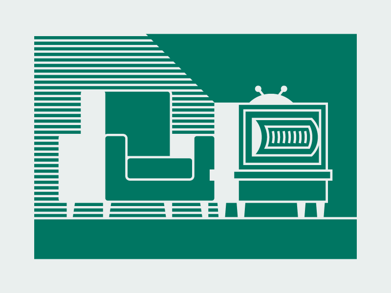 tv night minimalist minimalism minimal couch sofa television tv vector illustrator graphic flat illustration design