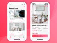 Booking iOS Mobile App Concept
