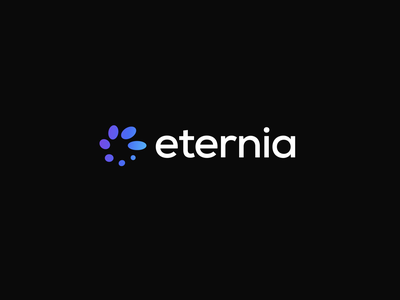 Eternia logotype symbol corporate round circle logomark energy sun