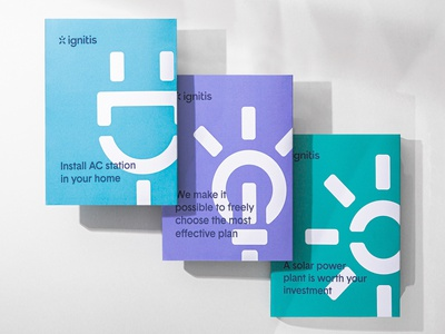 Ignitis Stationary minimal nordic power sustainability sustainable energy identity branding cover design stationary