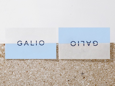 Galio businesscard horizon minimal brand concept realesate construction identitydesign identity