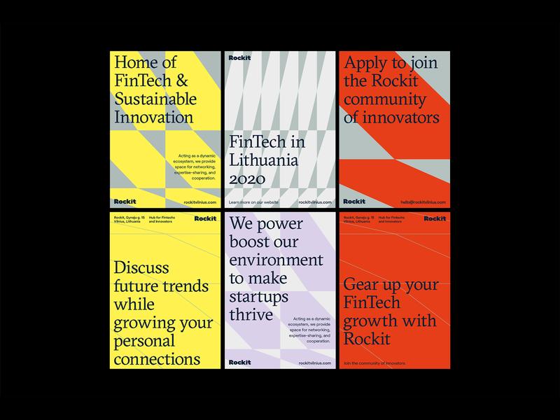 Rockit pattern texture grid startup branding fintech system identity logo