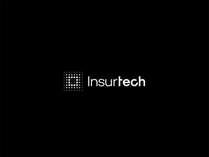 Insurtech security dots tech insurance minimal branding brand mark logo