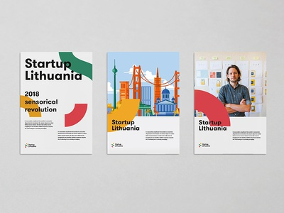 Startup Lithuania Identity system brand branding identity corporate business lithuania stationary blank app editorial poster startup