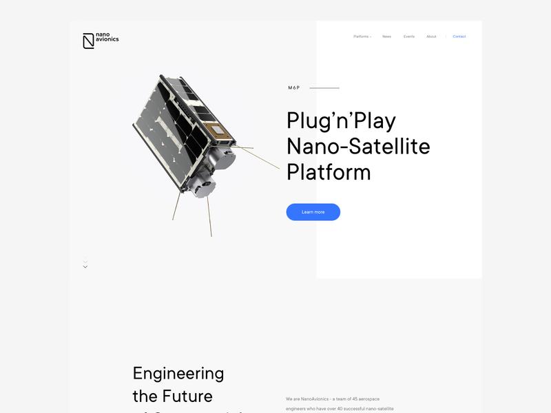 NanoAvionics studio branding brand satelite cosmos webdesign ui  ux design ui web logo nano