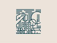 Klaipeda Illustrations — Wood Industry