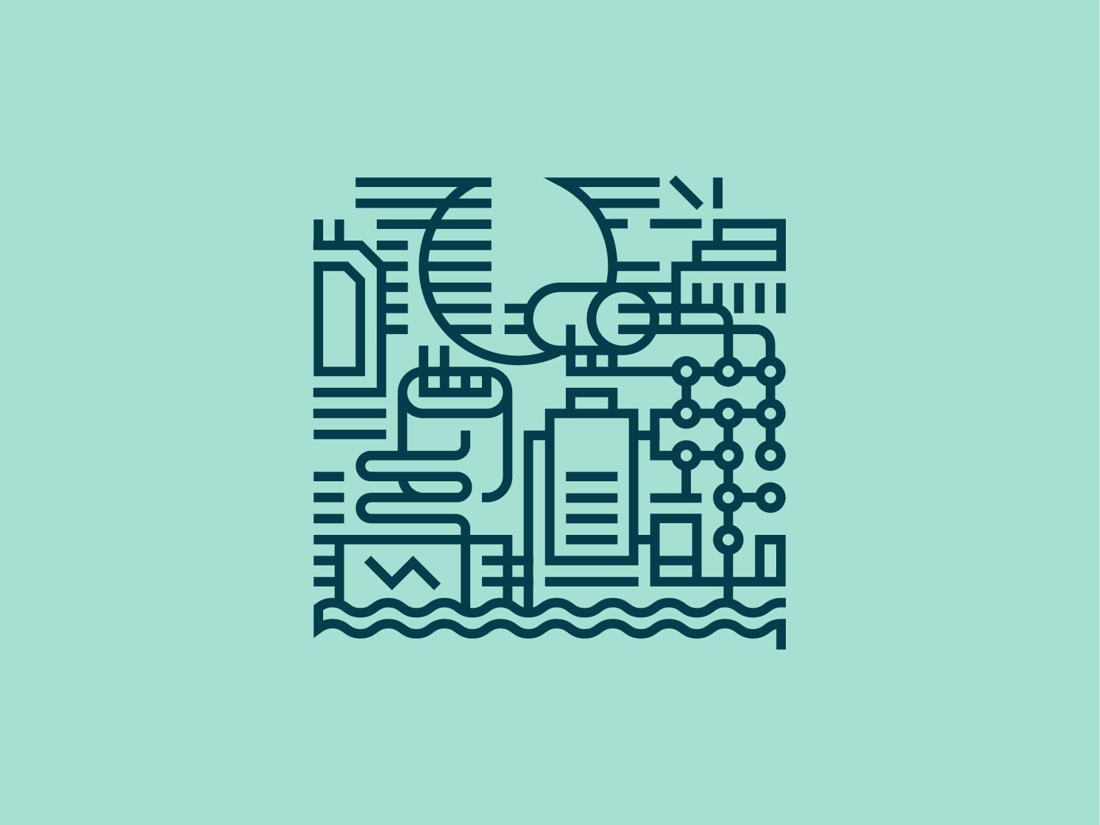 Klaipeda Illustrations — Hydro Energy