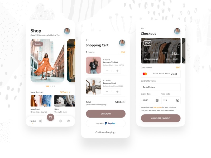 Levante - Ecommerce App shopping cart shopping ecommerce typography branding vector icon design app button mobile ux ui