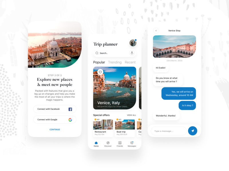 Windsor - Trip Planner App trip chat typography branding icon design app button mobile ux ui