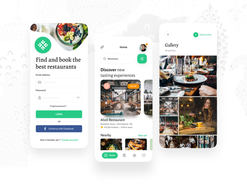 Appetit - Restaurant Booking Mobile App & Case Study branding logo booking restaurant vector icon mobile app design ux ui