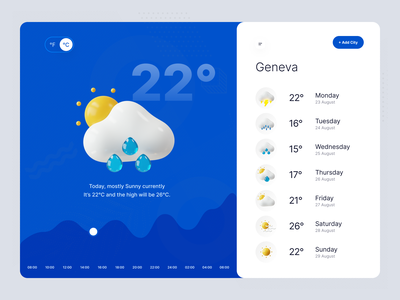 Daily UI - Weather weather dailyui daily ui 3d vector icon app design ux ui