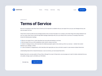 Daily UI - Terms Of Service terms of service minimal web daily ui dailyui vector icon app design ux ui