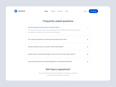 Daily UI - FAQ website faq minimal web daily ui dailyui app design ux ui