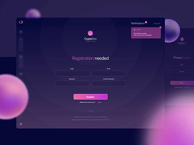 Registration screen app interface ux illustration design ui