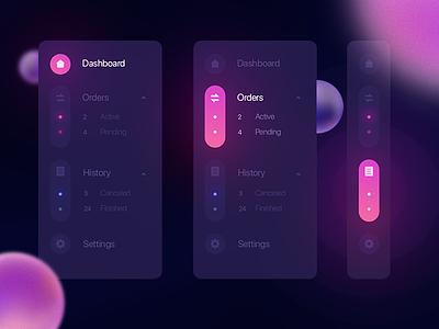 Navigation menu uiux illustration flat concept interface design animation page app ux ui