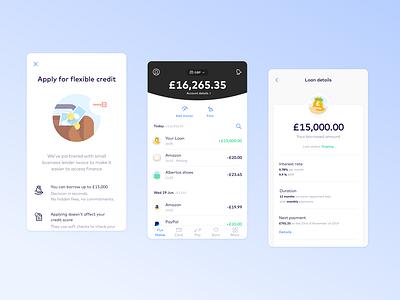 Introducing Business Loans credit figma sketch vector ux ui loan money ios illustration fintech design branding monese bank app design app