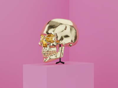 Skull blender3d sculpting skull blender 3d art illustration