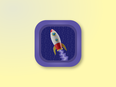 Ink Spaceships space spaceship app blender3d icon logo 3d art illustration design