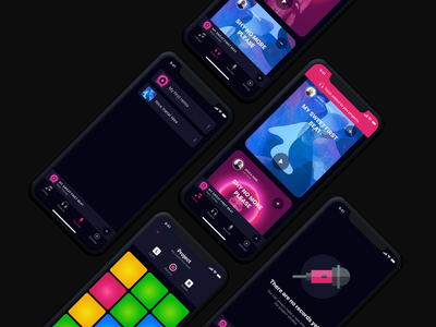 Drum machine app (#2) Daily UI sketch mobile daily ui