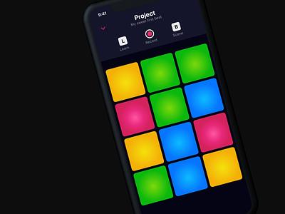 Drum machine app (#4) Daily UI sketch mobile daily ui