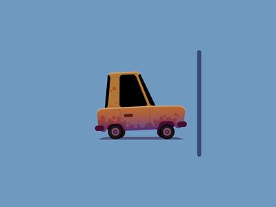 Dirty/Shiny Car 2d vector animation