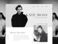 Kate Moss landing page