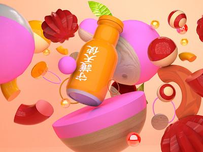 Juicy Juice 3dillustration 3d art advertising ads graphicdesign design artwork art cinema4d c4d cinema 4d