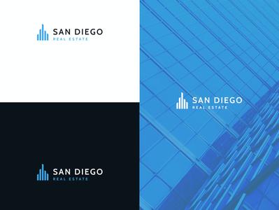 Logo San Deigo Real Estate agent home building property estate real design logo download freebie free