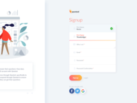 Signup Design - Qwoted