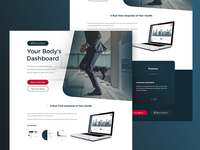 Supplements & Activity Tracking App Landing Page