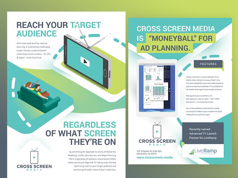 tv marketing analytics software flyer by oleg dribbble dribbble