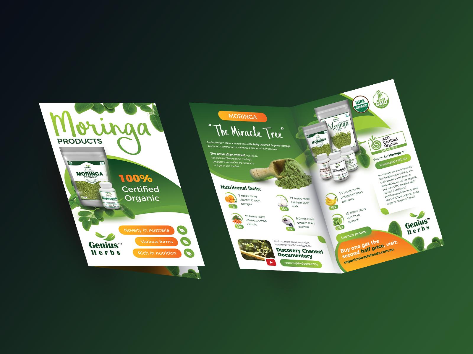 free half fold brochure mockup psd 8 5x11 by oleg dribbble