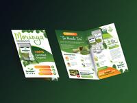 Free Half Fold Brochure Mockup PSD 8.5x11