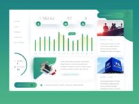 Trading / Financial Dashboard App UI Concept