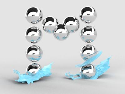 Metal Marbles - Graphic Design Alphabet - M