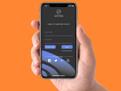 Safe Lynq UX Design for IphoneX