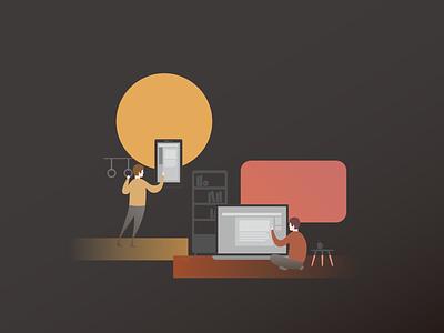 Autumn flat vector branding illustration design