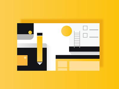 Happy Work vector design illustration flat branding