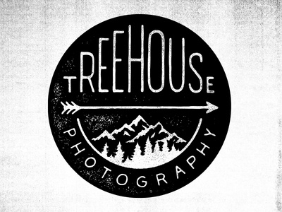 Treehouse Photography type typography hand drawn type logo mountains photography