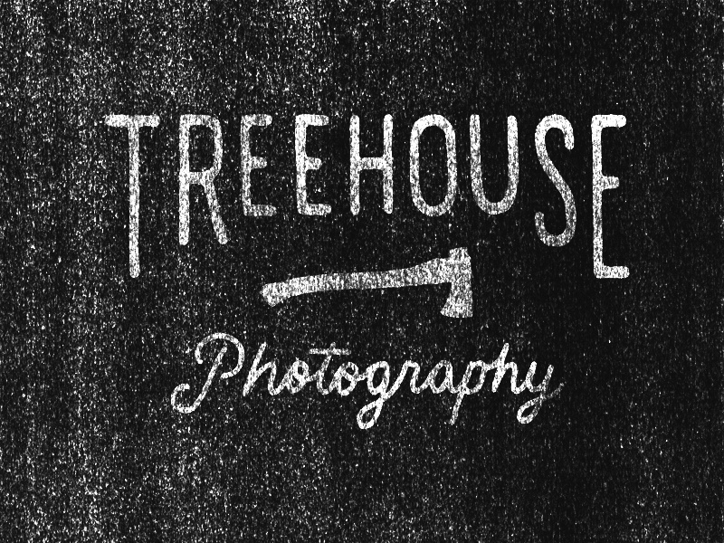 Treehouse Alternate type typography hand drawn type logo axe photography photocopy xerox