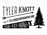 Treehouse Business Card type typography hand drawn type logo photography saw tree outdoors